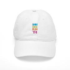 SWIM BIKE RUN TRI Baseball Cap