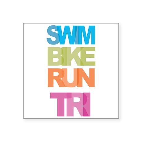 SWIM BIKE RUN TRI Sticker