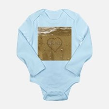 Alexis Beach Love Long Sleeve Infant Bodysuit