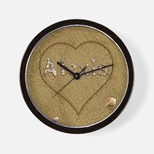 Alexis Beach Love Wall Clock