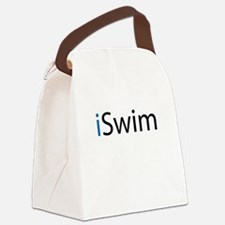 iSwim (blue) Canvas Lunch Bag