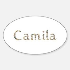 Camila Seashells Oval Decal
