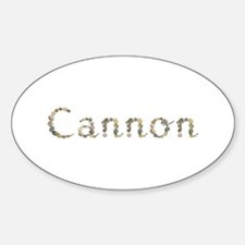 Cannon Seashells Oval Decal