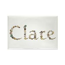 Clare Seashells Rectangle Magnet
