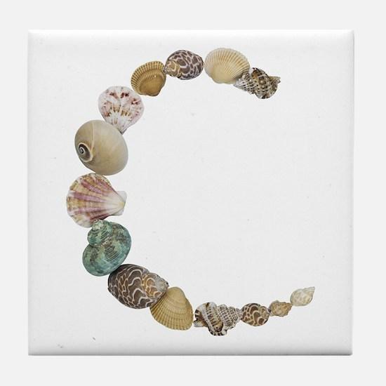 C Seashells Tile Coaster