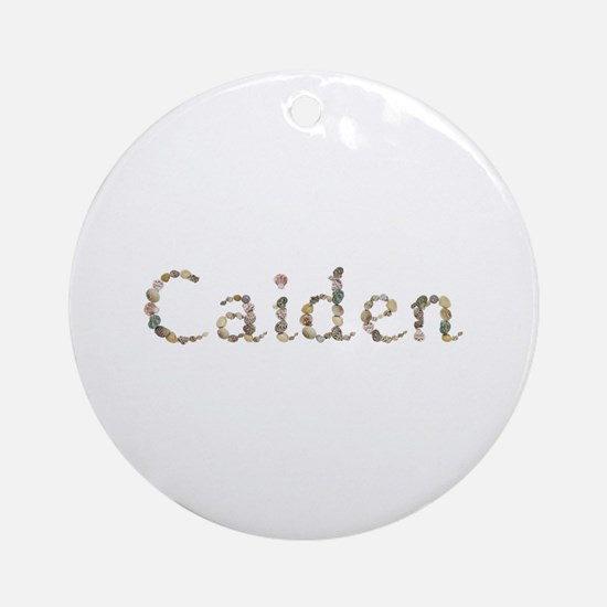 Caiden Seashells Round Ornament