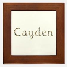 Cayden Seashells Framed Tile
