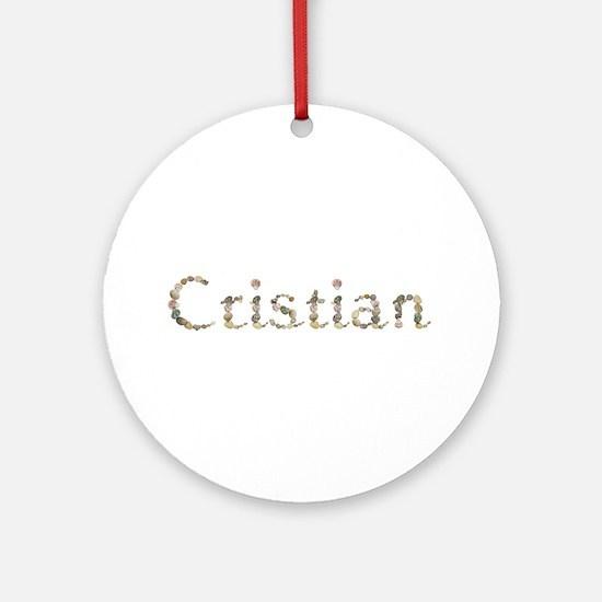 Cristian Seashells Round Ornament