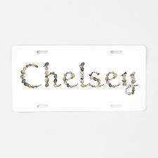 Chelsey Seashells Aluminum License Plate