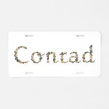 Conrad Seashells Aluminum License Plate