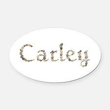 Carley Seashells Oval Car Magnet