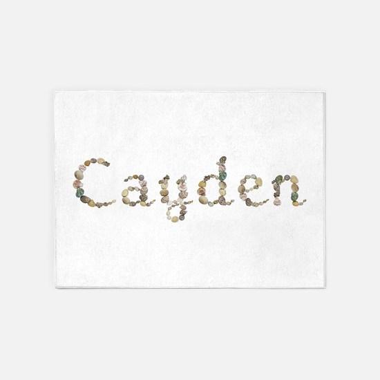 Cayden Seashells 5'x7' Area Rug