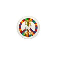 Peace Love Goats Mini Button (100 pack)