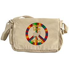 Peace Love Goats Messenger Bag