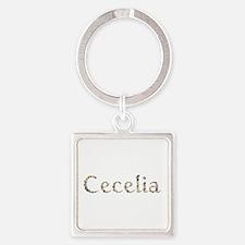 Cecelia Seashells Square Keychain