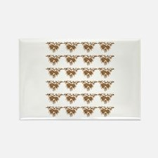 Brown Pine Cones Rectangle Magnet