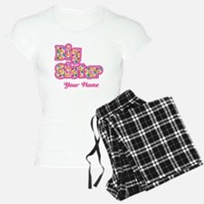 Big Sister Pink Splat - Personalized Pajamas