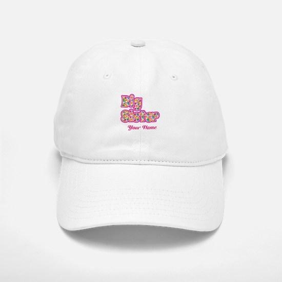 Big Sister Pink Splat - Personalized Baseball Baseball Baseball Cap