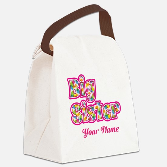Big Sister Pink Splat - Personalized Canvas Lunch