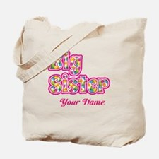 Big Sister Pink Splat - Personalized Tote Bag
