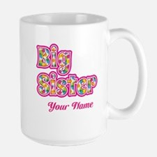 Big Sister Pink Splat - Personalized Mugs