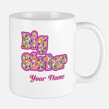 Big Sister Pink Splat - Personalized Mugs