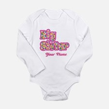 Big Sister Pink Splat - Personalized Body Suit