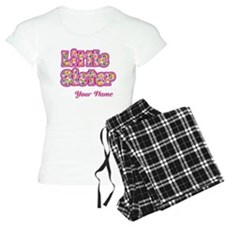 Little Sister Pink Splat - Personalized Pajamas