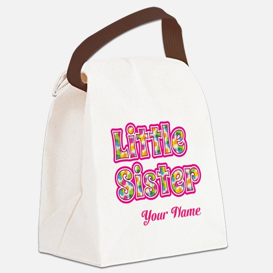 Little Sister Pink Splat - Personalized Canvas Lun
