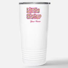 Little Sister Pink Splat - Personalized Travel Mug