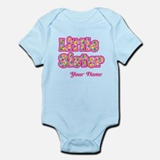 Little Sister Pink Splat - Personalized Body Suit