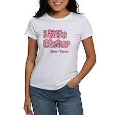 Little Sister Pink Splat - Personalized T-Shirt