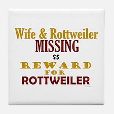 Wife & Rottweiler Missing Tile Coaster
