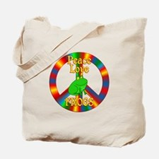 Peace Love Frogs Tote Bag