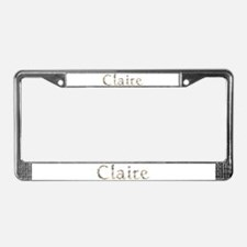Claire Seashells License Plate Frame