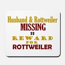 Husband & Rottweiler Missing Mousepad