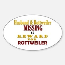 Husband & Rottweiler Missing Oval Decal