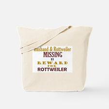 Husband & Rottweiler Missing Tote Bag