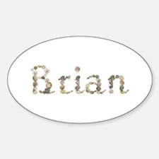 Brian Seashells Oval Decal