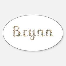 Brynn Seashells Oval Decal