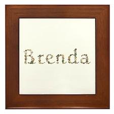 Brenda Seashells Framed Tile