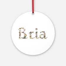 Bria Seashells Round Ornament