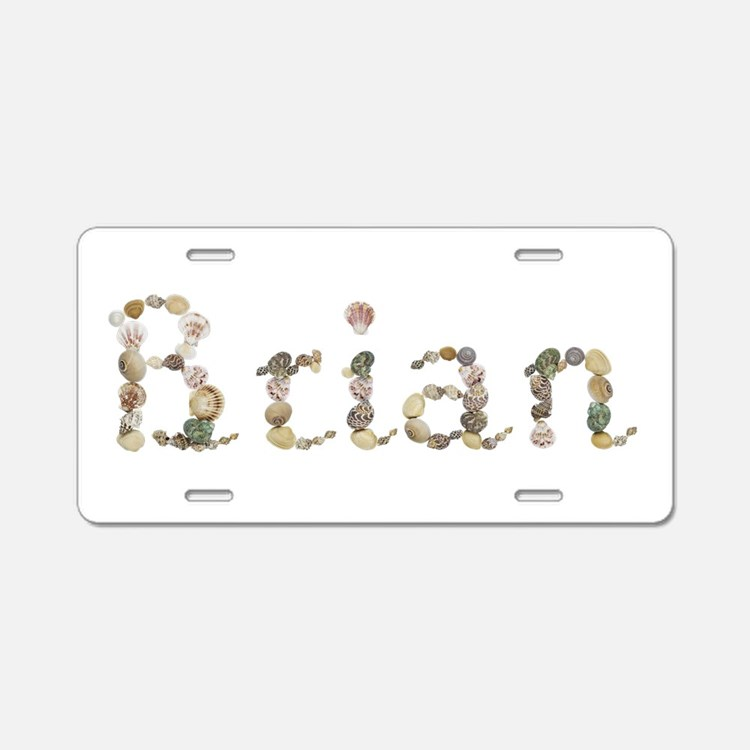 Brian Seashells Aluminum License Plate
