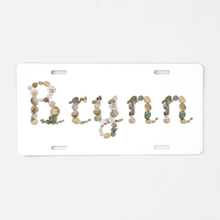 Brynn Seashells Aluminum License Plate