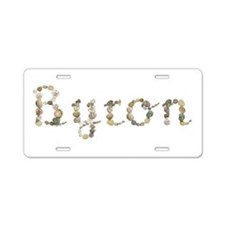 Byron Seashells Aluminum License Plate
