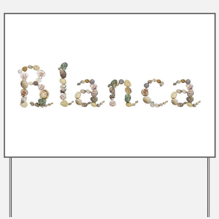 Blanca Seashells Yard Sign