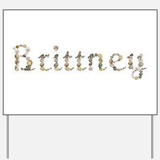 Brittney Seashells Yard Sign