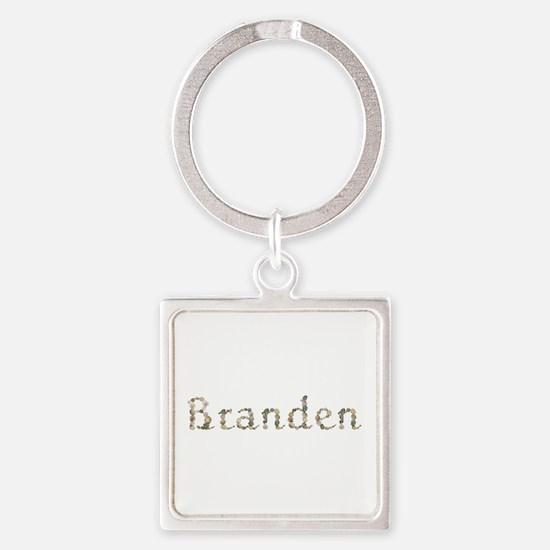 Branden Seashells Square Keychain