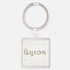 Byron Seashells Square Keychain
