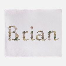 Brian Seashells Throw Blanket